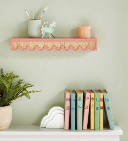 Rattan scalloped shelf for $20!