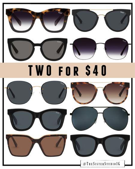 Quay sunglasses are 2 for $40 right now! 😎    #LTKsalealert #LTKstyletip #LTKunder50