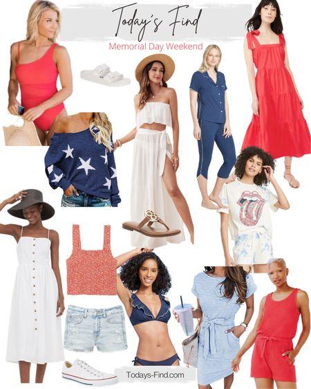 Memorial Day weekend outfits, swimsuits, and casual sets.     http://liketk.it/3fd20   @liketoknow.it   #LTKsalealert #LTKstyletip #LTKSeasonal #liketkit #ltkcompetition