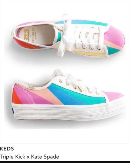 Stitch fix kens triple kick x kate spade. Colorful rainbow sneaker for pride http://liketk.it/3fPGN #liketkit @liketoknow.it #stitchfix #rainbow #pride #katespade #sneaker  #LTKunder100 #LTKshoecrush #LTKstyletip