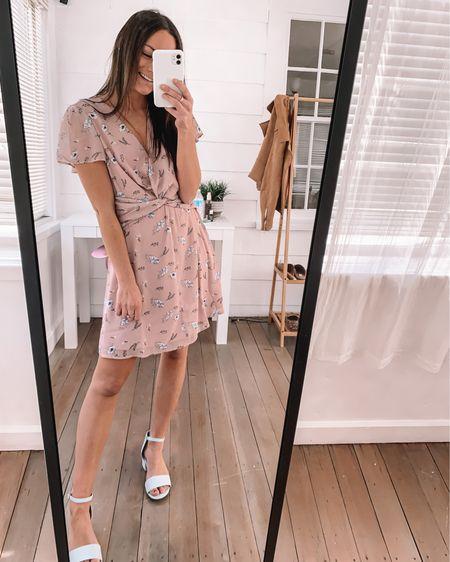 Amazon spring dress -wearing a S amazon block heels - true to size  Amazon Easter outfit amazon Easter dress amazon heels amazon spring shoes #LTKstyletip #LTKunder50 #LTKunder100 http://liketk.it/3ay9e @liketoknow.it #liketkit