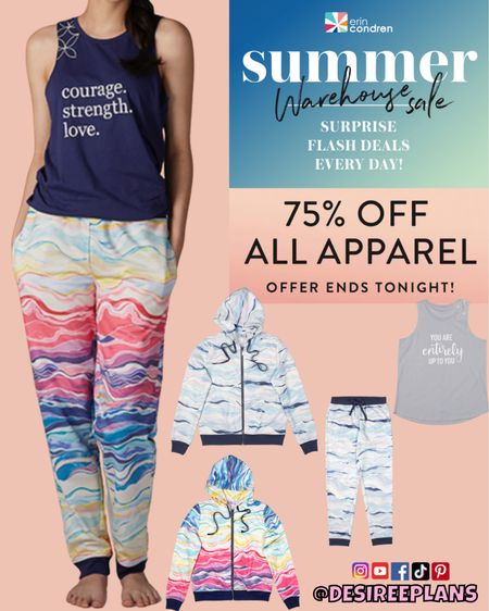 75% off Select Apparel at Erin Condren TODAY ONLY! Other select items 50% off! Don't miss it! Cozy & comfy loungewear perfect for fall!   #LTKstyletip #LTKsalealert #LTKunder50