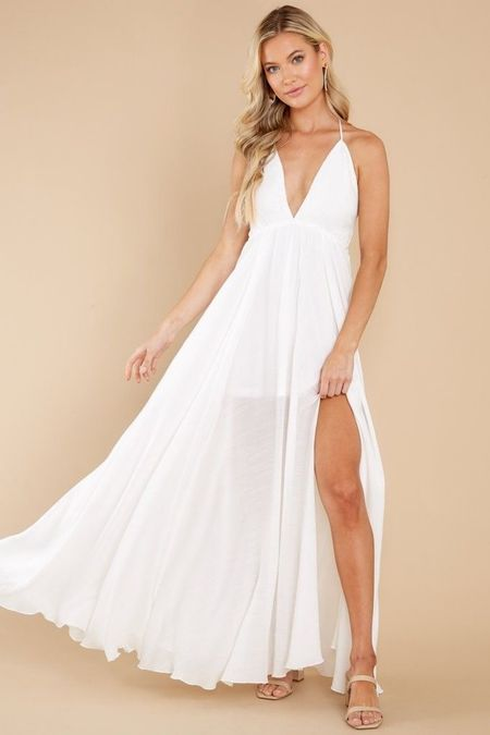 White dress the perfect white dress for spring and summer you can dress it up or down   #LTKSeasonal #LTKunder50 #LTKunder100