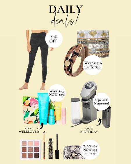 Daily deals! Summer skincare collection from Tula is almost50% OFF 😍 use code: WELLLOVED. Camo leggings 50% off!!! Victoria Emerson wrap bracelets only $19! 🤩 Nespresso $130 off code: BIRTHDAY. TARTE set only $35!!!   http://liketk.it/3gTjp #liketkit @liketoknow.it #LTKDay #LTKsalealert #LTKbeauty