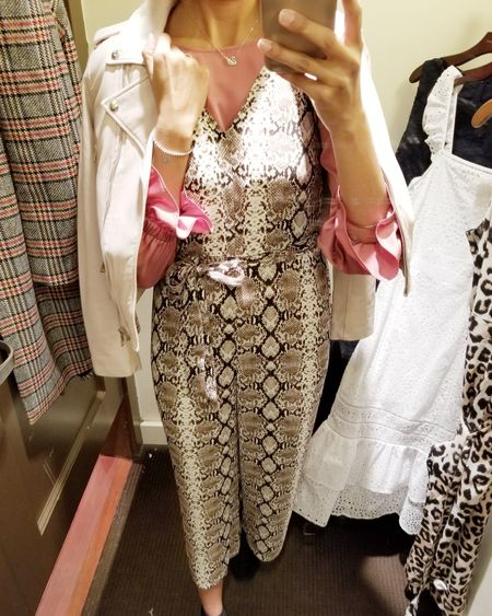 Perfect blush pink leather jacket for cool spring nights!! .  @liketoknow.it #liketkit #LTKsalealert #LTKwedding #japssparkle #makeitsparkle #summeroutfit #springoutfit #animalprint #jumpsuit #bananarepublic #torontobloggers  .  Screenshot or 'like' this pic to shop the product details from the LIKEtoKNOW.it app, available now from the App Store! http://liketk.it/2AFRq