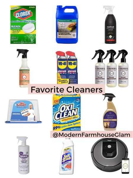 My favorite cleaners, cleaning supplies, Clorox toilet bowl cleaner, wd40, tile and stone cleaner, Myers all purpose cleaner, magic eraser, kitchen cleaner, stain remover, Amazon, Walmart, modern farmhouse glam.    http://liketk.it/3gadj #liketkit @liketoknow.it #LTKhome #LTKsalealert #LTKunder50 @liketoknow.it.home @liketoknow.it.family Follow me on the LIKEtoKNOW.it shopping app to get the product details for this look and others
