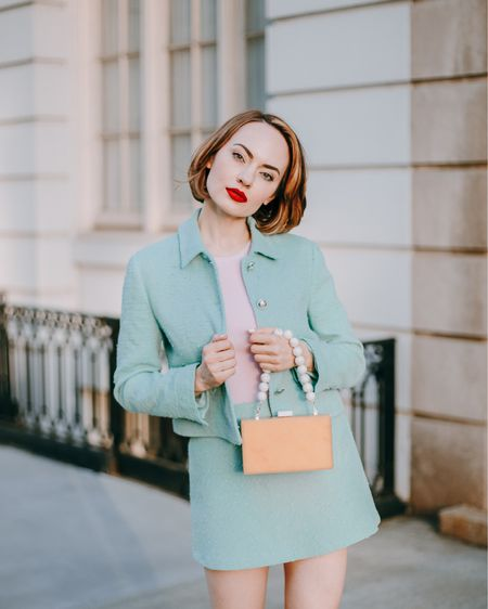 SAGE SUIT is a spring staple in a trendy shade. Win-win in my book! Do you have #sagegreen pieces in your wardrobe? 🌺   Total look from #zarawoman captured by @channel.nyc 🌸 http://liketk.it/3dblC #liketkit @liketoknow.it #stylesprinter #sagegreen #ss21trends #LTKSeasonal #competition