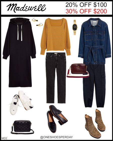 MADEWELL Fall Outfits  20% OFF $100 30% OFF $200 Use Code: GOSPREE Ends October 18      http://liketk.it/3pRfI @liketoknow.it #liketkit #LTKGiftGuide #LTKHoliday #LTKSeasonal #LTKsalealert #LTKshoecrush #LTKtravel #LTKunder50 #LTKworkwear #LTKunder100 #LTKFall #LTKGifts | Travel Outfits | Teacher Outfits | Back to School | Casual Business | Fall Outfits | Fall Fashion | Pumpkins| Pumpkin | Booties | Boots | Bodysuits | Halloween | Shackets | Plaid Shirts | Plaid Jackets | Activewear | White Sneakers | Sweater Dress | Fall Dresses | Sweater Vests | Cardigans | Sweaters | Faux Leather Pants | Faux Leather Jackets | Coats | Fleece | Jackets | Bags | Handbags | Crossbody Bags | Tote | Wedding Guest Dresses | Gifting | Gift Guide | Gift Ideas | Gift for Her | Mother in Law Gifts |