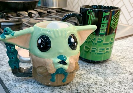 Hot chocolate kind of day in Texas. Picked up these adorable mugs for the kiddos. The Baby Yoda mug for baby girl and the color changing mug for the little man. So cute. @walmart #Walmart #Mugs #Hotchocolate #StarWars #Kiddos #BabyYoda #Minecraft #ColorChanging #RainyDays   #LTKhome #LTKkids