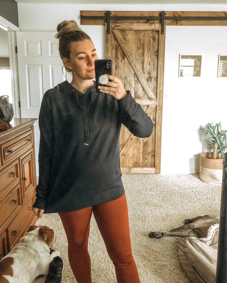 http://liketk.it/30Shk #liketkit @liketoknow.it The most buttery soft hoodie and leggings! Going to knock out my peloton sesh in this. #LTKfit
