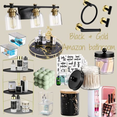 http://liketk.it/3jkAb #liketkit @liketoknow.it #LTKhome #LTKsalealert #LTKfamily #bathroomdecor #amazonfinds #blackandgold #founditonamazon  Get your edgy bathroom on with these great pieces from Amazon 👏🏼👏🏼  Black and Gold really flow together 🖤✨  Price ranges: $13-$70