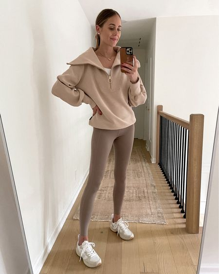 Today's comfortable athleisure outfit! Wearing an Xs in the sweatshirt #activewear #vejas #sneakers   #LTKunder100 #LTKstyletip #LTKfit