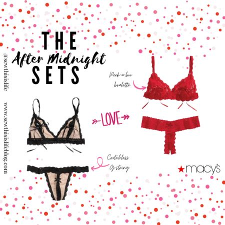 """Macy's Valentine's Day """"After Midnight"""" Lingerie http://liketk.it/37jk0 #liketkit @liketoknow.it #valentinesday #lingerieforher #valentinesdayoutfit Shop your screenshot of this pic with the LIKEtoKNOW.it shopping app   #LTKVDay #LTKstyletip #LTKunder100"""