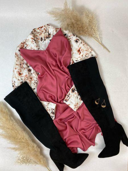 Floral blazer, slip dress and OTK boots! Shop similar looks for photo sessions, v-Day or date night!  #LTKVDay #LTKstyletip #LTKSeasonal