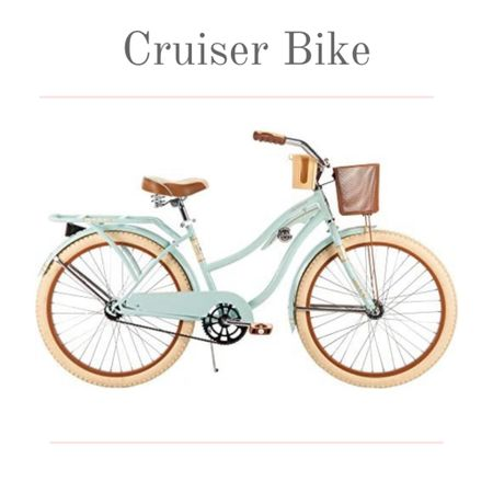 """The cruiser bike. Iconic and so adorable. Ride your cruiser bike to the beach or to the store. Summer and beach vibes never looked so good!  Bike details: 24"""" women's Huffy Nel Lusso Cruiser Bike with basket.  Color: mint.  Brand: generic Brake style: coaster.  #kimbentley #bicycle   #LTKSeasonal #LTKfit"""