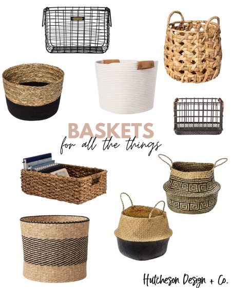 """5 ways to use baskets in your home: ✨add a blanket & pillow for cozy decor ✨(cute) storage for toys & crafts ✨use as a """"pot"""" for plants ✨countertop decor for bathrooms & kitchen ✨keep a basket by the stairs to collect items that need to go up/down  Baskets = Storage = Good Can I get an amen?! 🙌🏼   http://liketk.it/2XNgN #liketkit @liketoknow.it #LTKunder50 @liketoknow.it.home Follow me on the LIKEtoKNOW.it shopping app to get the product details for this look and others #LTKfamily #LTKhome"""