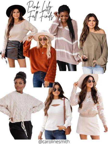 Pink Lily LTK Gifting Sale  Sweater  Sweater weather Skort Faux leather   #LTKGiftGuide #LTKSale #LTKsalealert