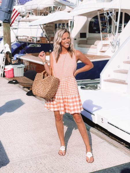 Shop my daily looks by following me on the LIKEtoKNOW.it shopping app http://liketk.it/3euUy #liketkit @liketoknow.it  .  #LTKstyletip #LTKitbag #LTKtravel gigham, gingham dress, red dress, shop red dress, summer, vacation