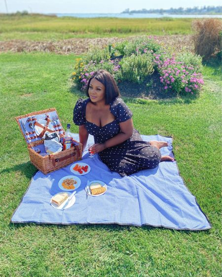 Took myself out to a picnic today. Sometimes #selfCare includes solitude     Can we talk about this picnic basket?! Isn't it the cutest thing you r ever seen?!!! I never knew how much I needed a picnic basket until I got one. This particular one has playing for up to 4 people. Yes, it includes all the cutlery you see. It was the perfect setup for my solo picnic.   Get basket and dress via link in bio or stories http://liketk.it/2Vxw4   .  #liketkit @liketoknow.it #LTKunder100 #LTKcurves #LTKfamily