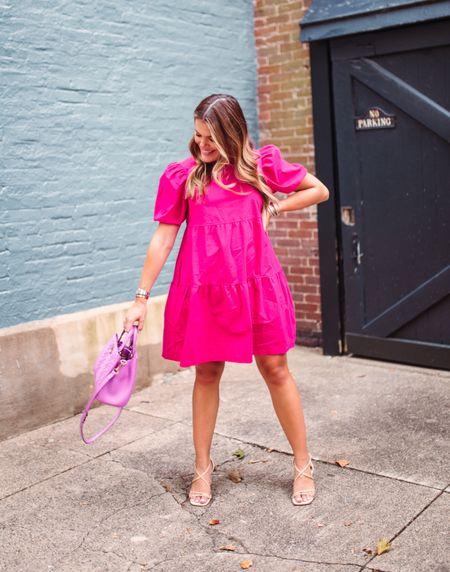 Summer dresses// puffy sleeve mini dress // what to wear to a baby shower, girls night   #LTKstyletip #LTKbump #LTKunder100