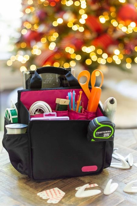 This holiday tool kit holds everything from zip ties to hand tools to a glue gun. Christmas prep tool storage battery storage holiday organization Walmart find  #LTKHoliday #LTKSeasonal #LTKunder50