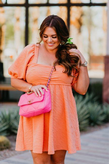 orange cream dress! wearing size xl   #LTKcurves #LTKshoecrush #LTKunder100