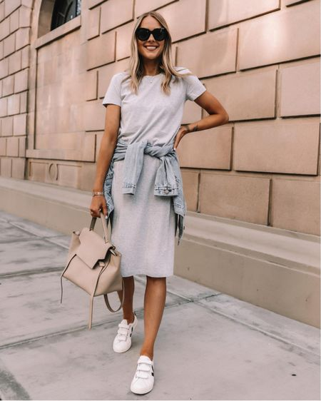 Love this comfy tshirt dress (tts) with Veja sneakers and a denim jacket for summer #summerdress #sneakers #vejasneakers #denimjacket #veja #dresses #tshirtdress http://liketk.it/3hhwA  #liketkit @liketoknow.it #LTKstyletip #LTKunder50 #LTKunder100