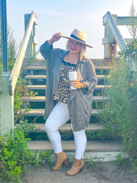 White after labor day? Heck yes!  Just make it fall!  Love this leopard cami paired with the jacket of the season and white jeans and booties! This jacket really is a must!  #LTKbacktoschool #LTKstyletip #LTKSeasonal
