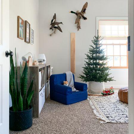 Our oldest son's woodland themed bedroom. Kids room Christmas decor inspo.   #LTKkids #LTKhome #LTKfamily