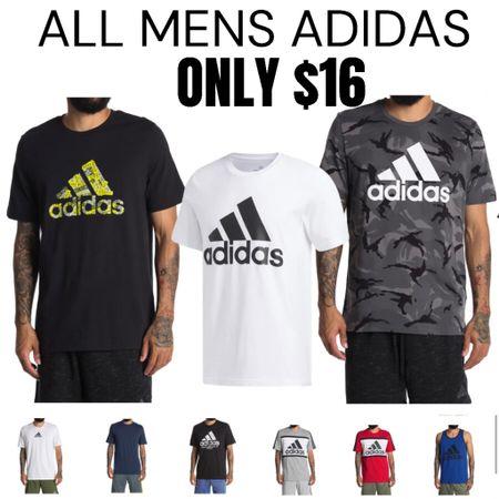 Men's Adidas Shirts and Tanks only $16  http://liketk.it/3hORa #liketkit @liketoknow.it #LTKsalealert #LTKunder50 #LTKmens