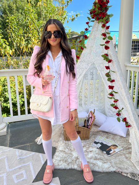 Amazon sunglasses Dior dupes white button down shirt   #LTKstyletip #LTKunder100 #LTKunder50
