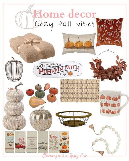 cozy neutral fall home decor, neutral home decor, fall home decor