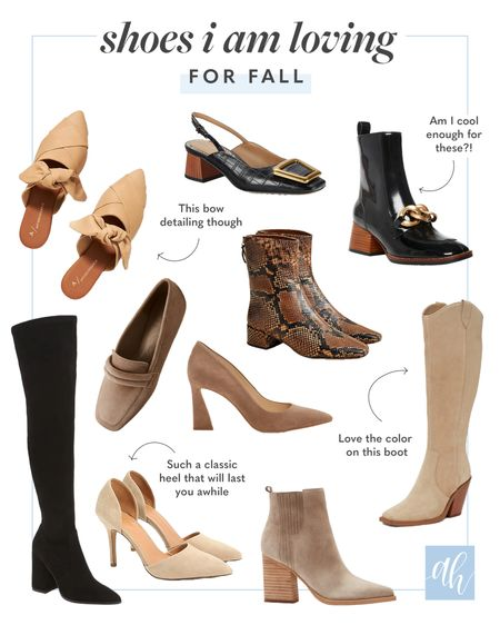 Shoes for fall, boots and booties I'm loving for autumn, cooler weather shoe trends   #LTKshoecrush #LTKSeasonal #LTKstyletip