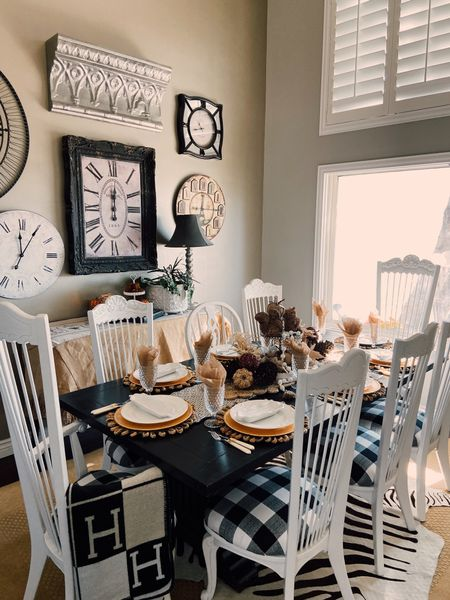 Fall dining room & table scape🍁🍂 🍁🍁 I created a shopping list to make it easy for you! Must have pieces  #LTKstyletip #LTKSeasonal #LTKHoliday