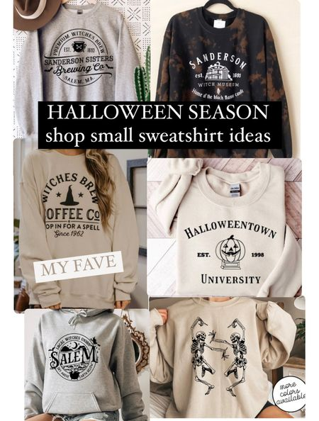 Halloween season and cozy sweatshirts to go on theme shop small   #LTKunder50 #LTKHoliday #LTKSeasonal
