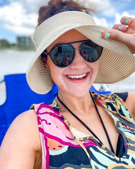 Swimwear! This  up sun hat is one of my FAVORITE amazon finds! It's on sale for under $20 right now and is available in several colors. 😍 I also linked some swimsuit coverups! Use code HEATHER40 for 40% off goodnight macaroon!   http://liketk.it/3fJzo #liketkit @liketoknow.it #LTKsalealert #LTKswim #LTKunder50