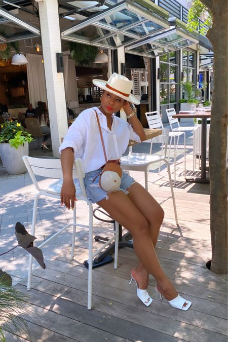 Not sure what to wear this Memorial Day weekend, try a denim cut off paired with button down shirt, hat and mules. Don't forget a statement bag and this is on sale    http://liketk.it/3gllV #liketkit @liketoknow.it #LTKsalealert #LTKDay #LTKunder100