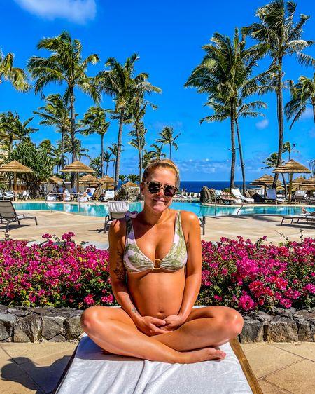 New swimwear from @showmeyourmumu ! This set is reversible, from green palms to pink palms. So cute! 🌴 💗  🕶: @illesteva 👙: @showmeyourmumu   📍 Ritz Carlton Kapalua, Maui, Hawaii @ritzcarltonkapalua   Shop your screenshot of this pic with the LIKEtoKNOW.it shopping app • http://liketk.it/3bX0c • @liketoknow.it #liketkit #LTKbump #LTKswim #LTKtravel   #bumpstyle #bumpdate #bumppic #illesteva #showmeyourmumu #smym #kapalua #ritzcarlton #ritzcarltonkapalua #babymoon #babymooning #30weeks #thirdtrimester #pregnant #preggo #preggobelly #preggers #preggolife #bumplife #bumpin #pregnancystyle #babyontheway #expectingmom #preggostyle #pregnancyfashion #pregnancyswimwear