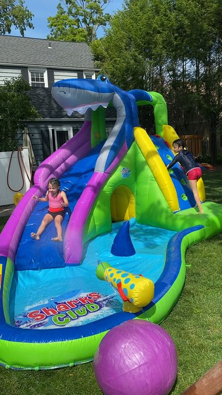 My kids are LOVING this water slide!  It's easy to set up and take down. Fun for hours!!    #LTKswim #LTKSeasonal #LTKkids