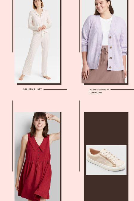 Target new arrivals // grandpa cardigan // babydoll dress // white sneakers // NSALE dupes // cozy pajamas // star sneakers // designer look-a-likes // target finds   #LTKworkwear #LTKunder50 #LTKshoecrush