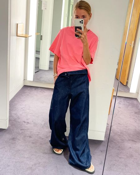 All in COS #cos #cosnewcollection #newincos #denimpants #denim #pants #wideleg #shirt #cottonshirt   #LTKunder100 #LTKeurope #LTKunder50