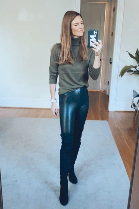 Amazon, Spanx look, high knee boot, fall outfits, amazing style, over forty looks, Kellie   #LTKunder50 #LTKSeasonal #LTKworkwear