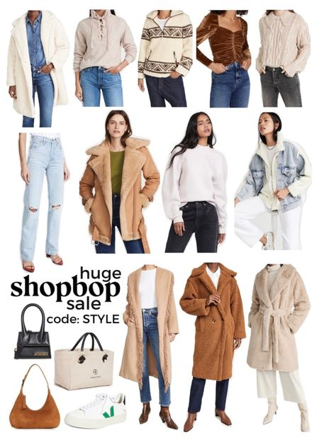 GUYS Shopbop is having a great sale right now but you have to hurry because it ends tonight at midnight!!! They are doing 15% off $200+, 20% off $500+ and 25% off $800+! If you want to treat yourself to some new fall staples now is the time! They have great denim and Sherpa jackets, shearling coats, handbags, sneakers, knit sweaters, outerwear and jeans! use code: STYLE   #LTKstyletip #LTKsalealert #LTKSeasonal