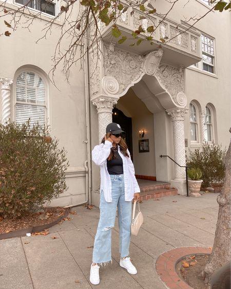 That baseball hat & oversized button up lifestyle 🖤  #LTKunder50 #LTKSeasonal