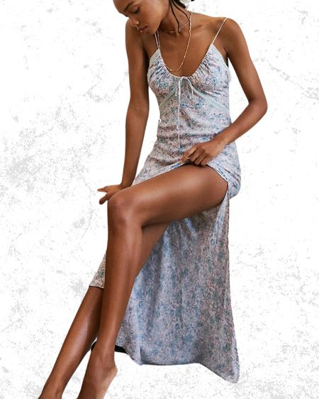 Maxi dress Lace inserts  Floral   #LTKwedding #LTKstyletip