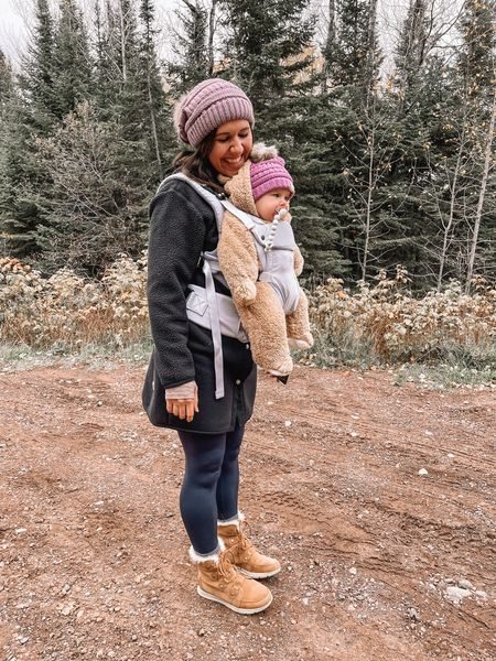 Amazon fashion winter hat Baby winter clothes, winter snowsuit, baby snowsuit, baby winter hat, amazon finds Baby carrier, colugo Sorel boots, aerie leggings Hiking outfits, fall outfits The north face coat, fleece coat    #LTKshoecrush #LTKbaby #LTKSeasonal