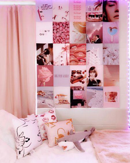 dorm room with a white and pink aesthetic  #LTKhome #LTKunder100 #LTKunder50 #liketkit @liketoknow.it http://liketk.it/3eLJc