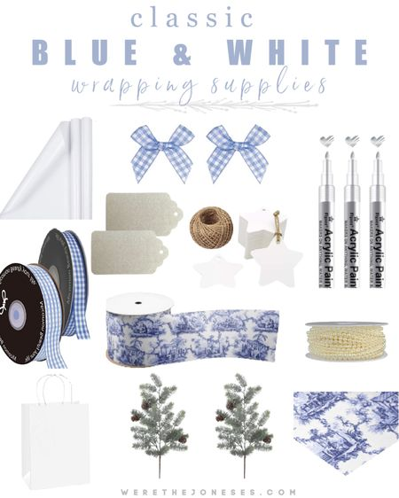 Wrap your presents in classic blue and white  gift wrap ❄️✨ I love this crisp white wrapping paper mixed with preppy gingham ribbon, all from Amazon! The chinoiserie ribbon adds a modern chic twist to this classic blue and white color combo.   http://liketk.it/33DUM #liketkit @liketoknow.it #LTKgiftspo #LTKunder50 #LTKhome @liketoknow.it.home gift wrap, presents, Christmas gifts, wrapping presents, holiday decor, holiday gifts, Christmas presents, wrapping presents, ribbon, Christmas ribbon, gift sacks, Christmas bows, gift tags