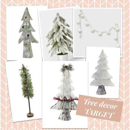 Cute home decor tabletop trees from Target, Christmas decor, holiday decor, winter decor, home, farmhouse  #LTKHoliday #LTKSeasonal #LTKhome