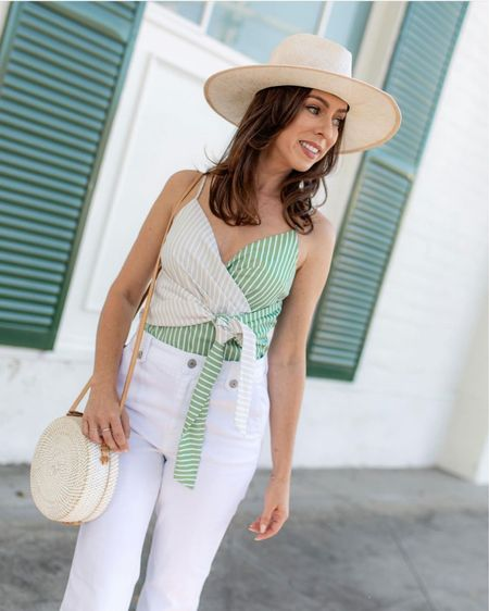 Summer stripes with a straw hat #liketkit http://liketk.it/3jwSE @liketoknow.it #stripes #hats #summerstyle